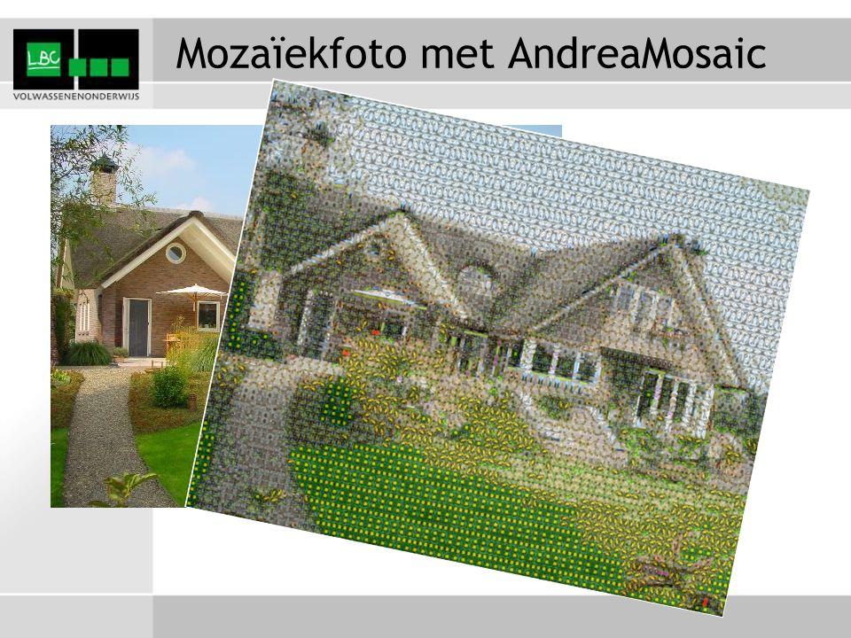 Mozaïekfoto met AndreaMosaic