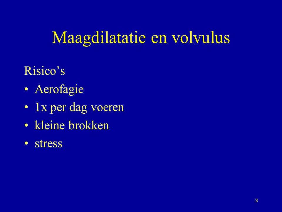 4 Maagdilatatie en volvulus Dieet Min.