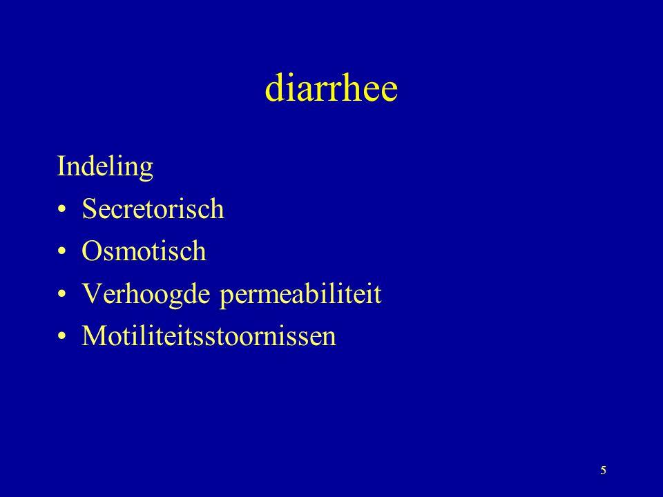 6 Acute gastro-enteritis Doelstellingen: - Verdere beschadiging tegen gaan -Vermijden dat acute diarrhee chronisch wordt Vroeger: vasten Nu: orale rehydratatie en voeden beter dan volldig vasten: