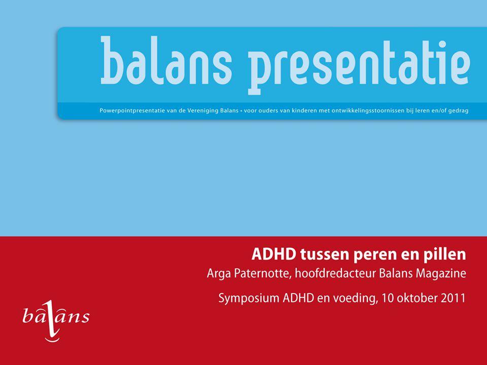 Deze presentatie Kinderen met ADHD Hun ouders ADHD in het onderwijs ADHD in media en politiek Peren en pillen Toekomst