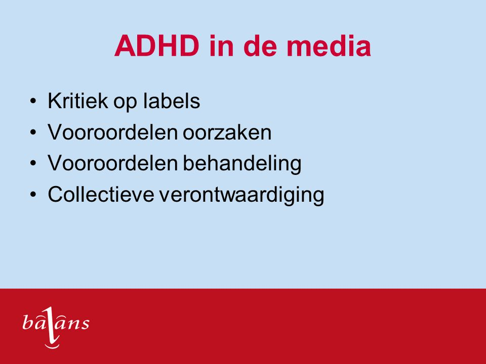 ADHD in de media