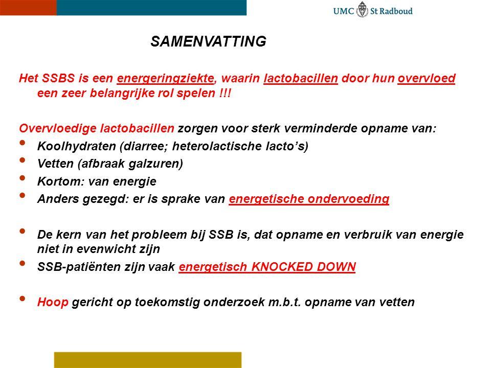 Het SSBS is een energeringziekte, waarin lactobacillen door hun overvloed een zeer belangrijke rol spelen !!! Overvloedige lactobacillen zorgen voor s