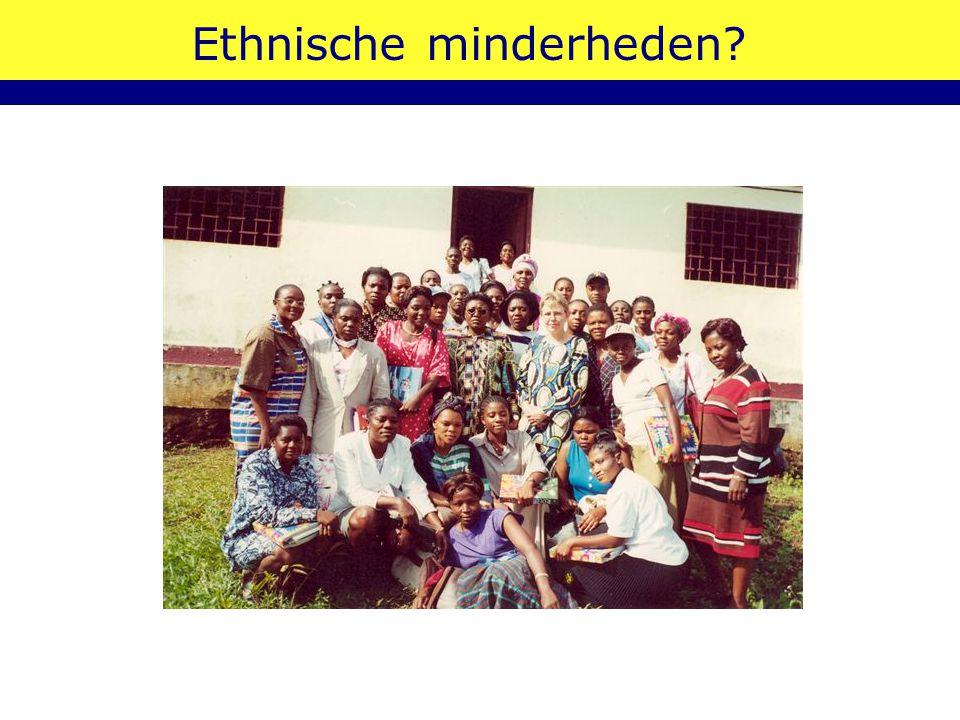 Ethnische minderheden?