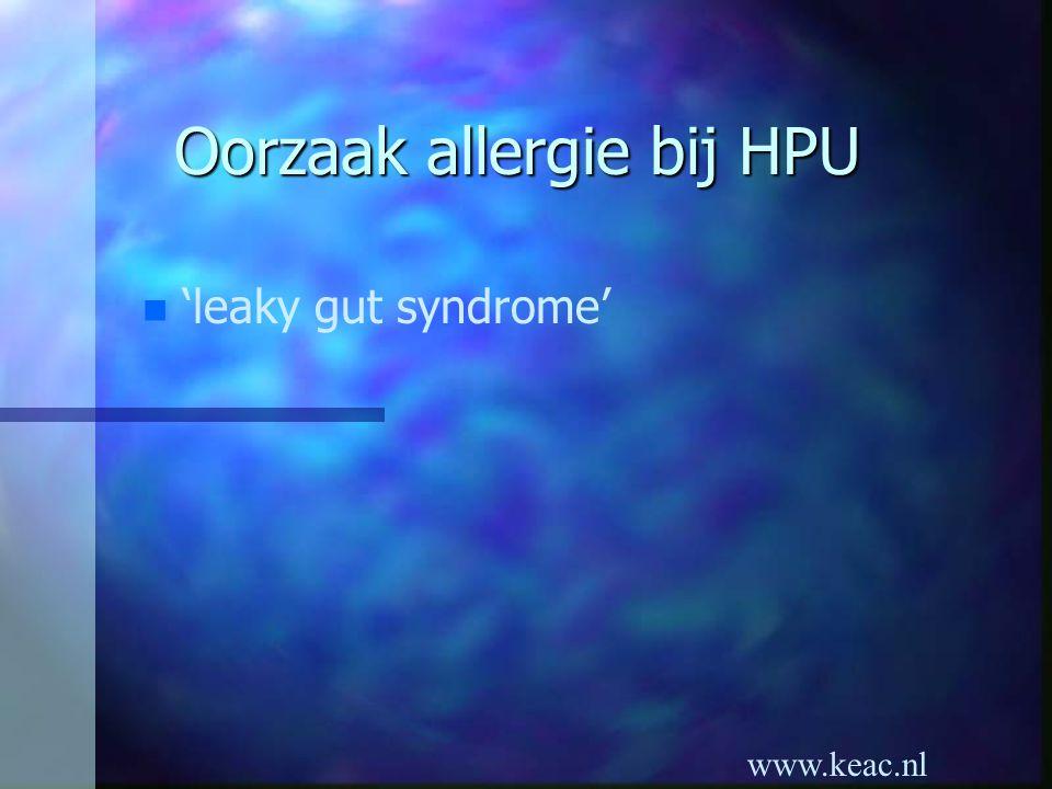 www.keac.nl Oorzaak allergie bij HPU n 'leaky gut syndrome'