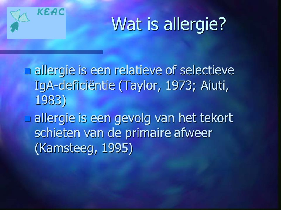 Wat is allergie.