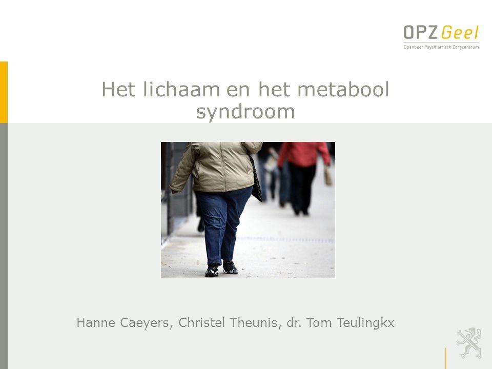Het lichaam en het metabool syndroom Hanne Caeyers, Christel Theunis, dr. Tom Teulingkx