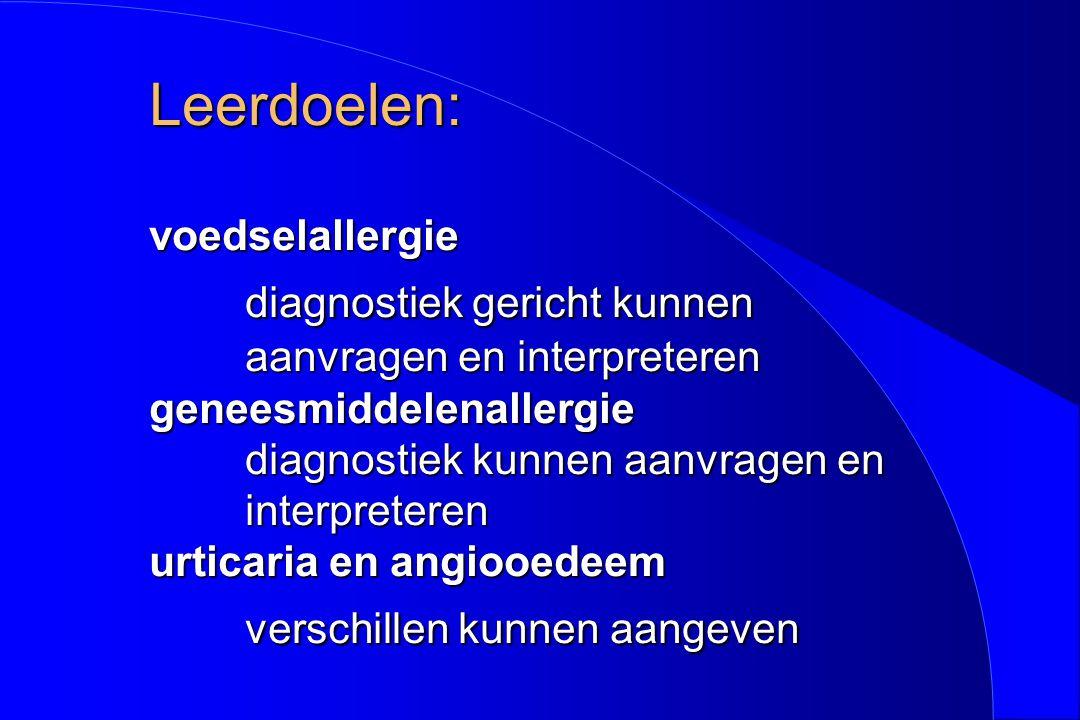 Anne- Roos, beloop l Optimaliseren behandeling eczeem l Antihistaminica zo nodig l Geen dieet !!.