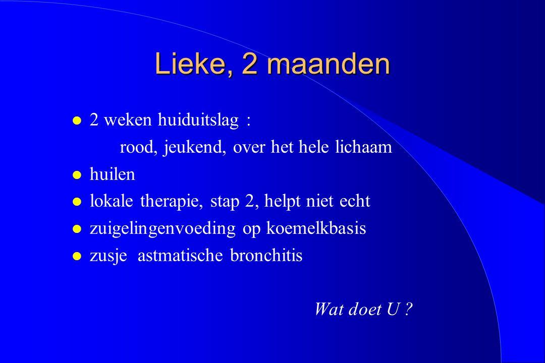 Geneesmidelenallergie stap 1: anamnese Welke medicatie.
