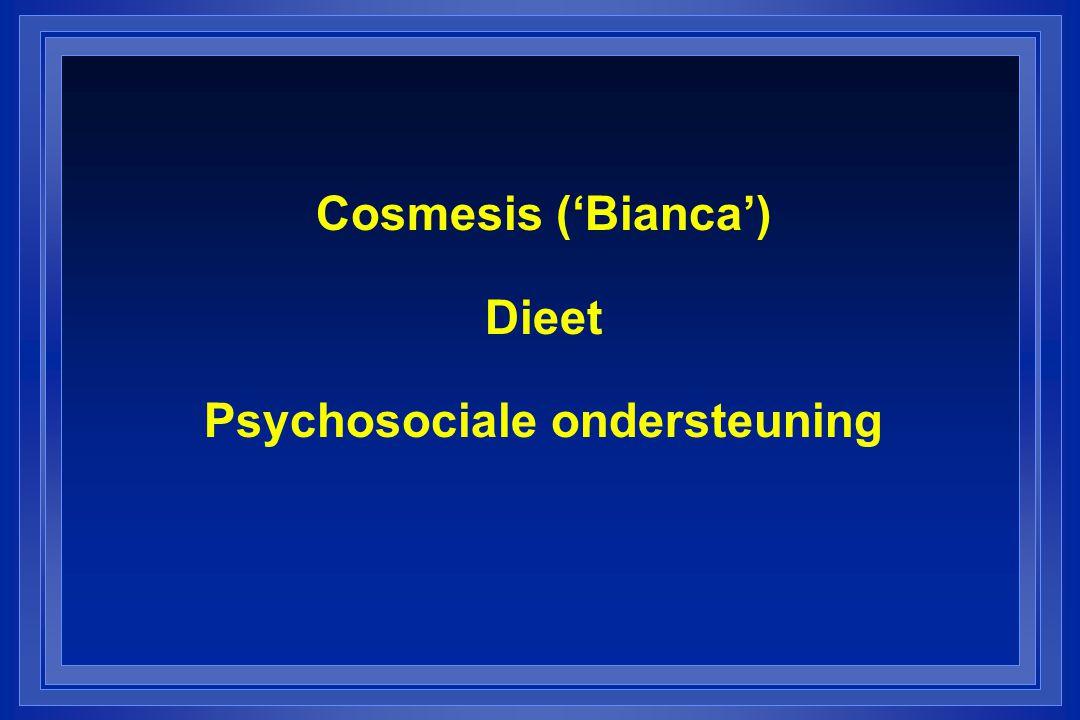 Cosmesis ('Bianca') Dieet Psychosociale ondersteuning