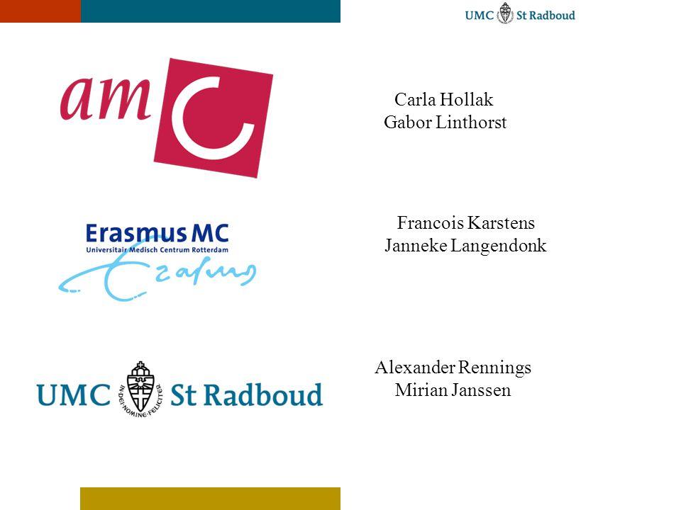 Carla Hollak Gabor Linthorst Francois Karstens Janneke Langendonk Alexander Rennings Mirian Janssen