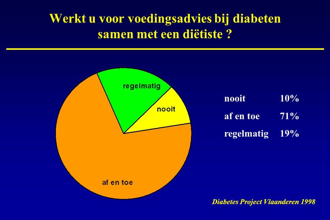 Werkt u voor voedingsadvies bij diabeten samen met een diëtiste .