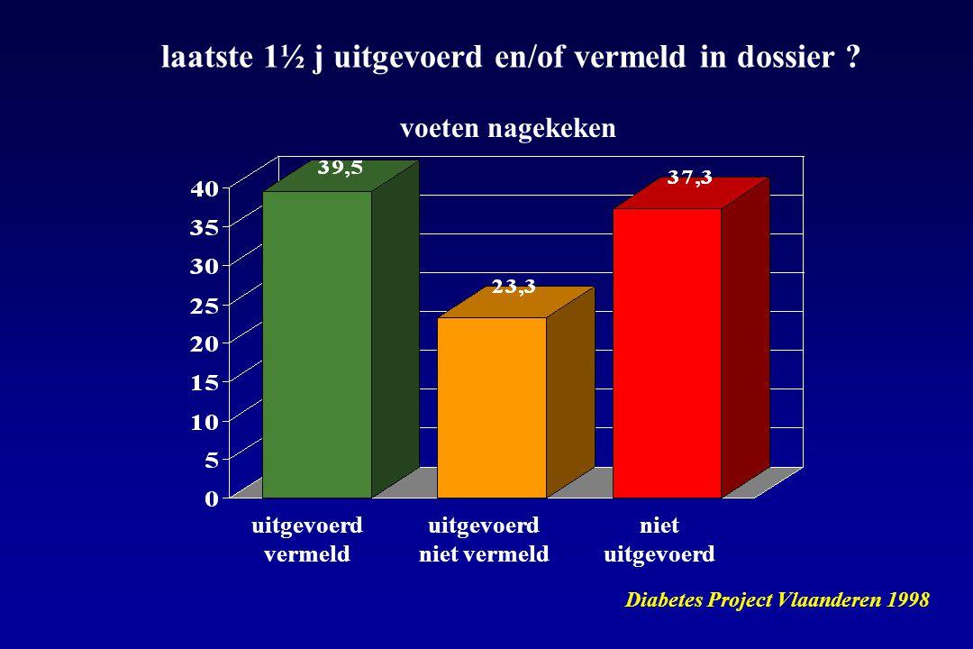 late verwijzing naar 2 de lijn gemiddeld HbA1c bij verwijzing voor insulinetherapie > 10 % indien insuline opstart bij HbA1c 7.5 – 10 % : - minder complicaties - meer kans op eenvoudig insulineschema (1 injectie)