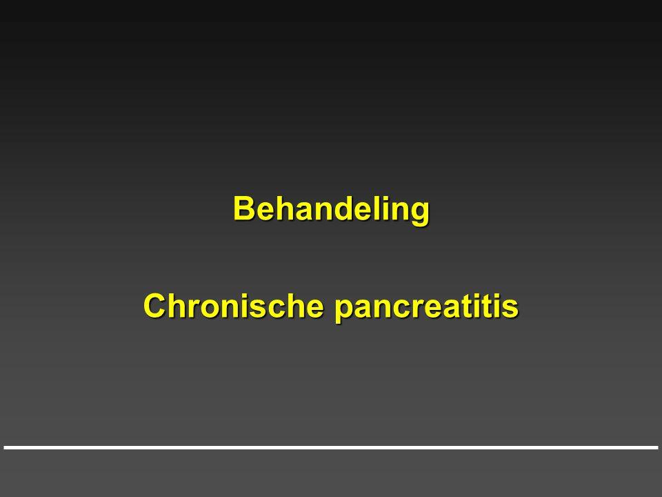 Behandeling Chronische pancreatitis