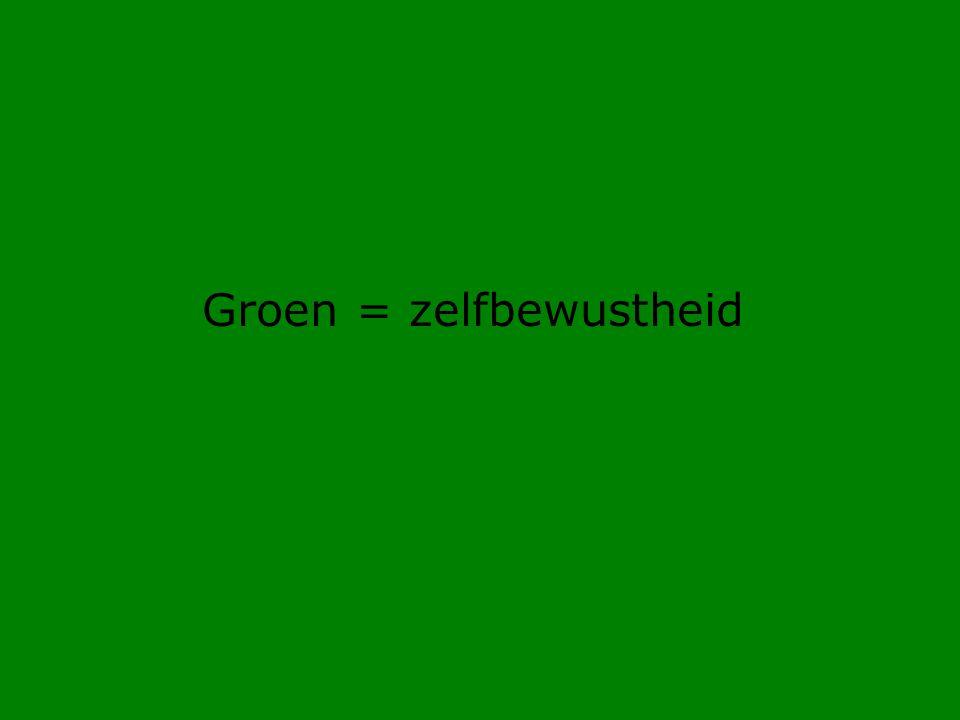 Groen = zelfbewustheid