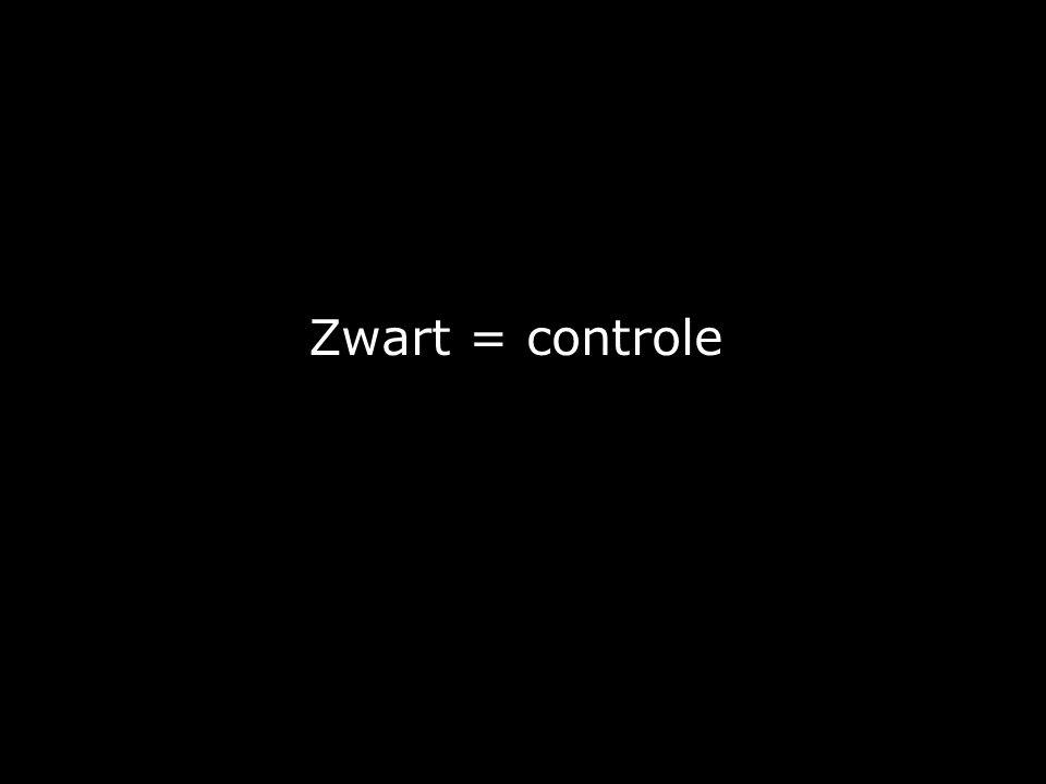 Zwart = controle