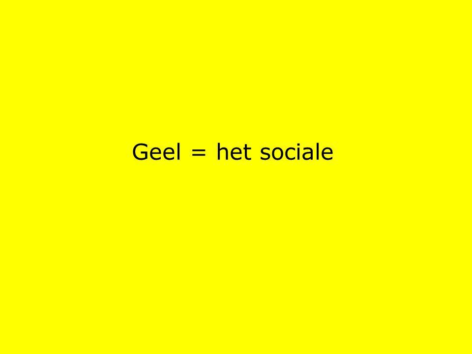 Geel = het sociale