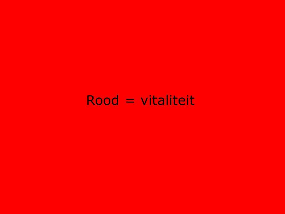 Rood = vitaliteit