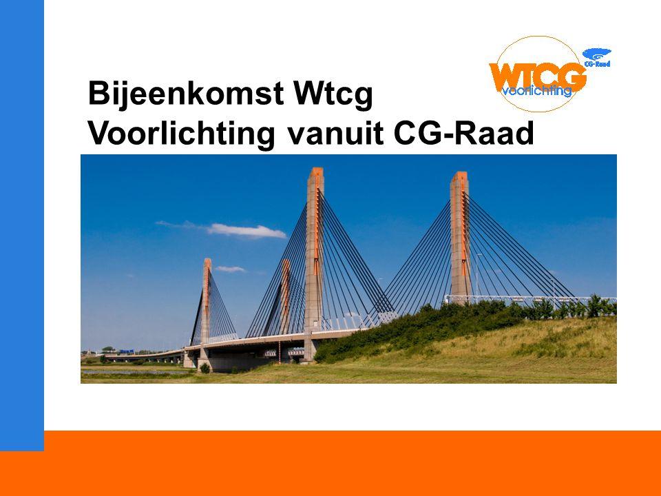 Welkom Bijeenkomst Wtcg Voorlichting vanuit CG-Raad