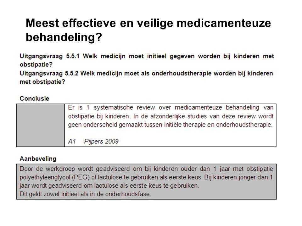Meest effectieve en veilige medicamenteuze behandeling?
