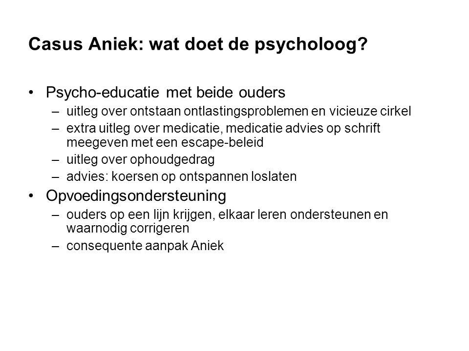 Casus Aniek: wat doet de psycholoog.