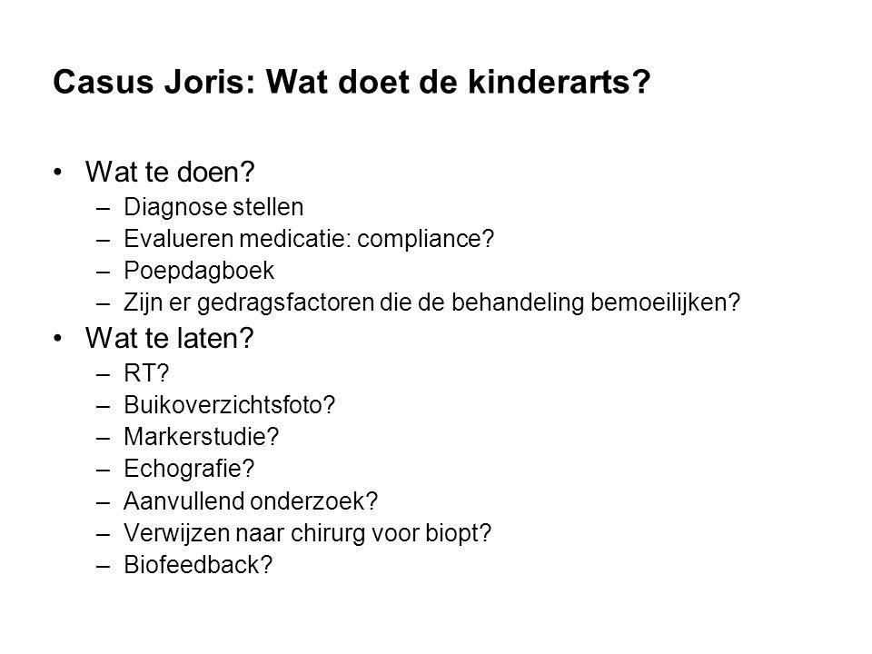 Casus Joris: Wat doet de kinderarts.Wat te doen.