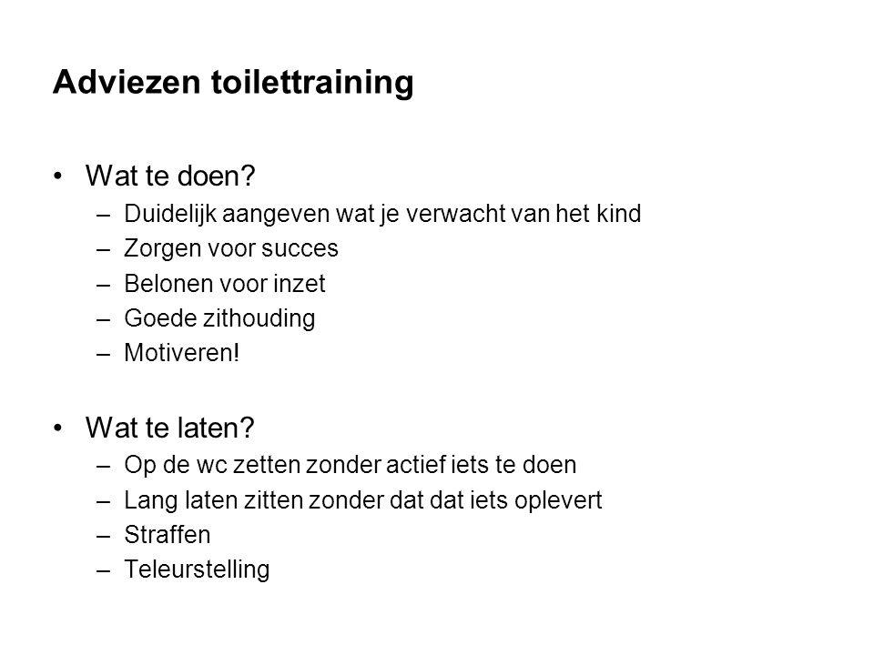 Adviezen toilettraining Wat te doen.