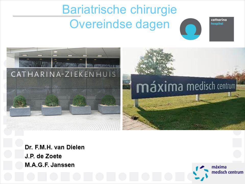 Dr. F.M.H. van Dielen J.P. de Zoete M.A.G.F. Janssen Bariatrische chirurgie Overeindse dagen