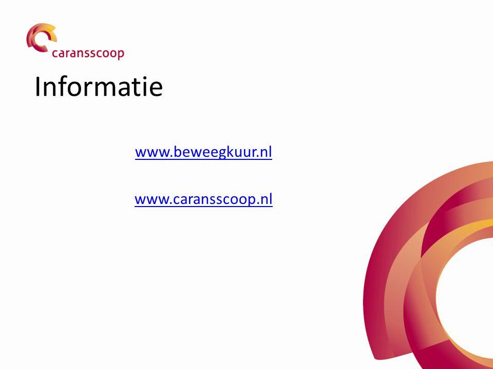 Informatie www.beweegkuur.nl www.caransscoop.nl