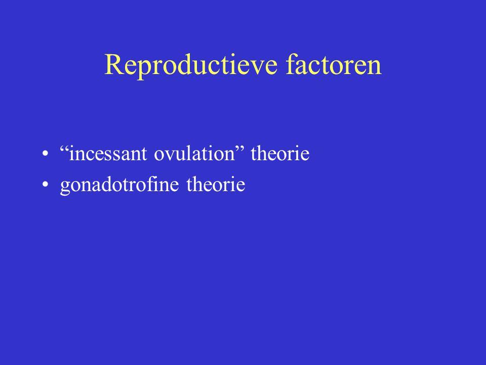 """Reproductieve factoren """"incessant ovulation"""" theorie gonadotrofine theorie"""