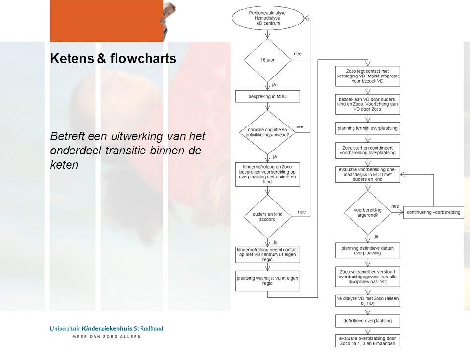 Ketens & flowcharts Betreft een uitwerking van het onderdeel transitie binnen de keten