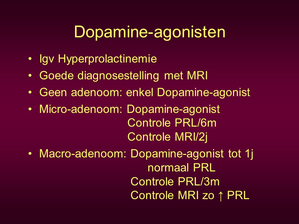 Metformine (Glucophage®) Cochrane database: Insulin-sensitising drugs for PCO (12/2002) 15x RCT met 13x RCT Metformin (543 patiënten) a) Metformin vs Placebo Ovulatie: O.R.= 3.88 C.I.= 2.25-6.69 p<0.0001 Pregn.R.: O.R.= 2.76 C.I.= 0.85-8.98 p=0.09 b) Metformin + CC vs CC + Placebo Ovulatie: O.R.= 4.41 C.I.= 2.37-8.22 p<0.0001 Pregn.R.: O.R.= 4.40 C.I.= 1.96-9.85 p=0.0003 Comment: Effective treatment for anovulation in PCOS Safety?