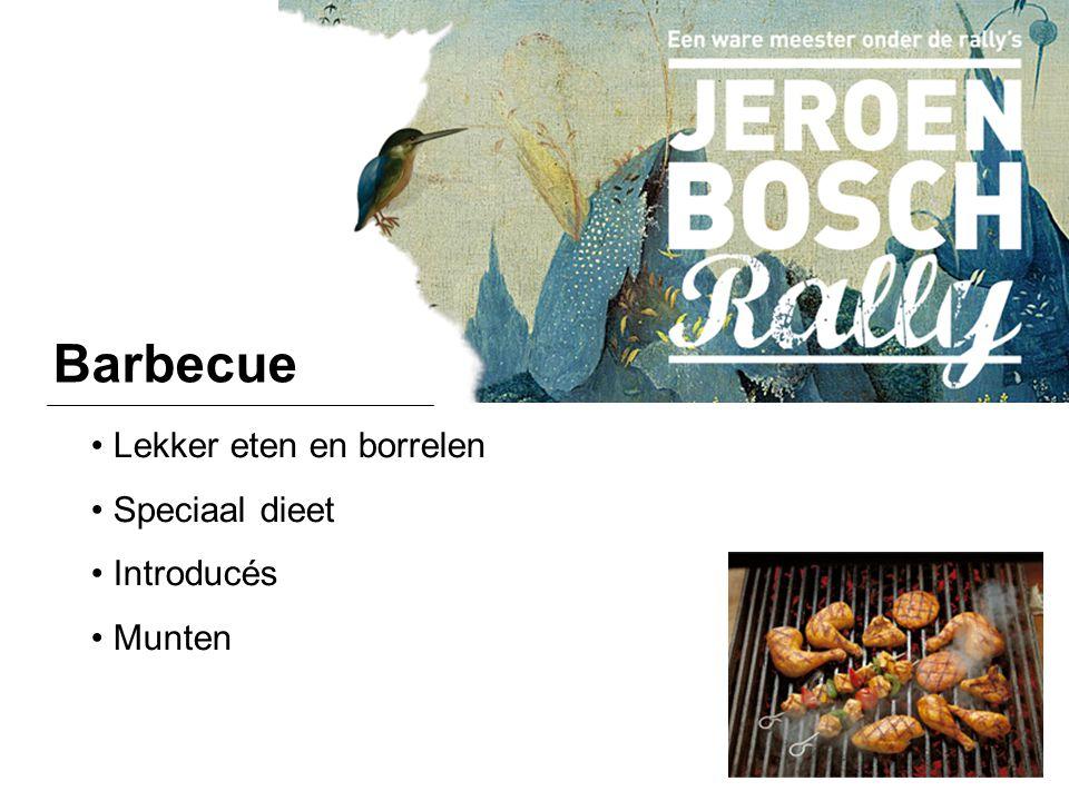 Barbecue Lekker eten en borrelen Speciaal dieet Introducés Munten