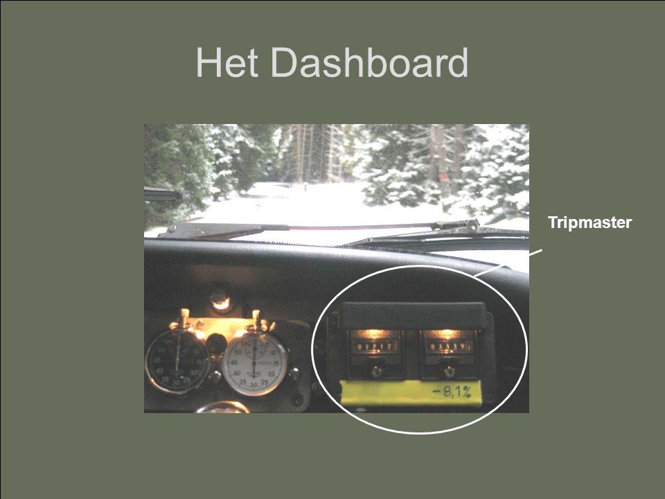 Het Dashboard Tripmaster
