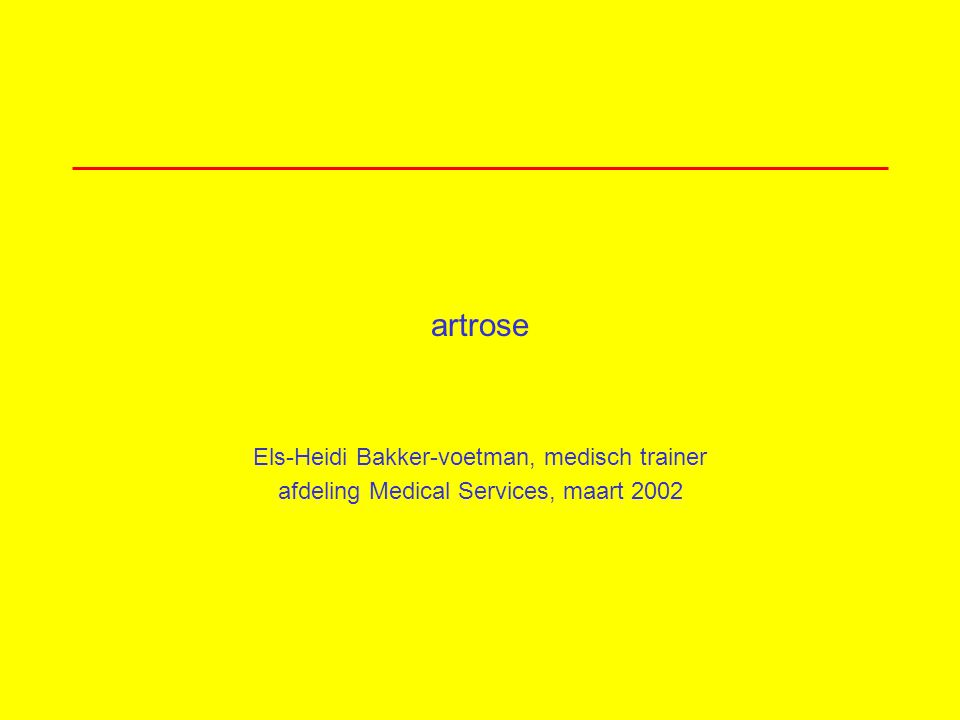 artrose »wat is artrose? »pathofysiologie »epidemiologie »risicofactoren »diagnostiek »behandeling