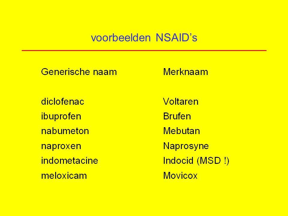 voorbeelden NSAID's