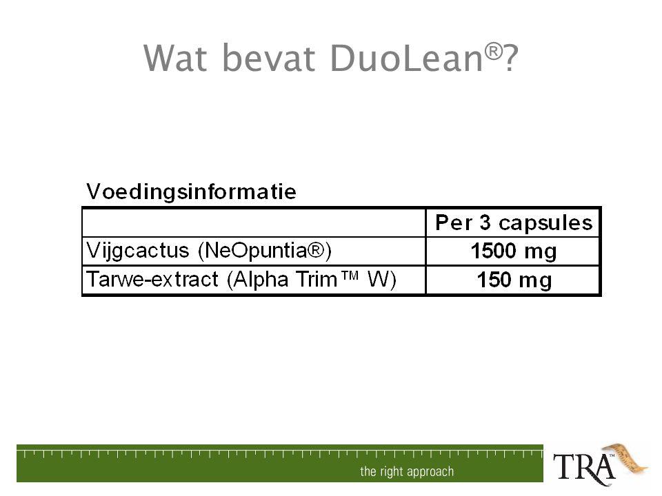Wat bevat DuoLean ® ?