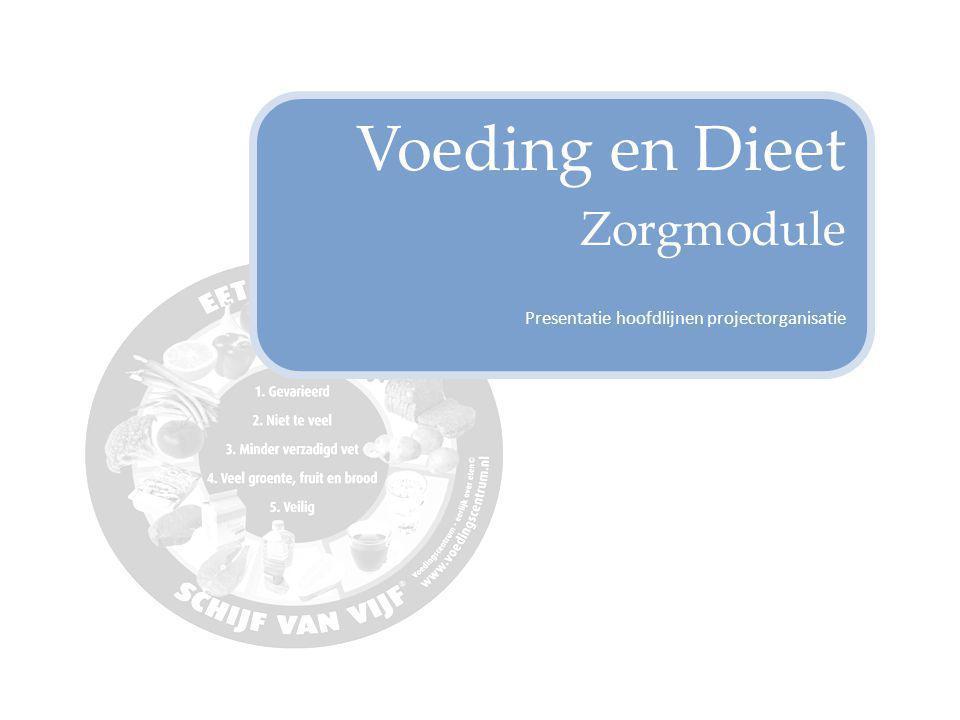 Voeding en Dieet Zorgmodule Presentatie hoofdlijnen projectorganisatie