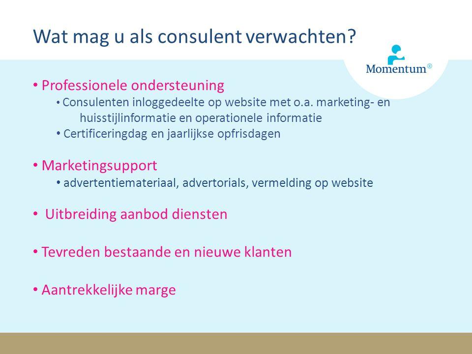 Professionele ondersteuning Consulenten inloggedeelte op website met o.a.