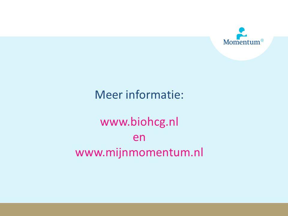 Meer informatie: www.biohcg.nl en www.mijnmomentum.nl Momentum® is een geregistreerd handelsmerk van OrthoPharma
