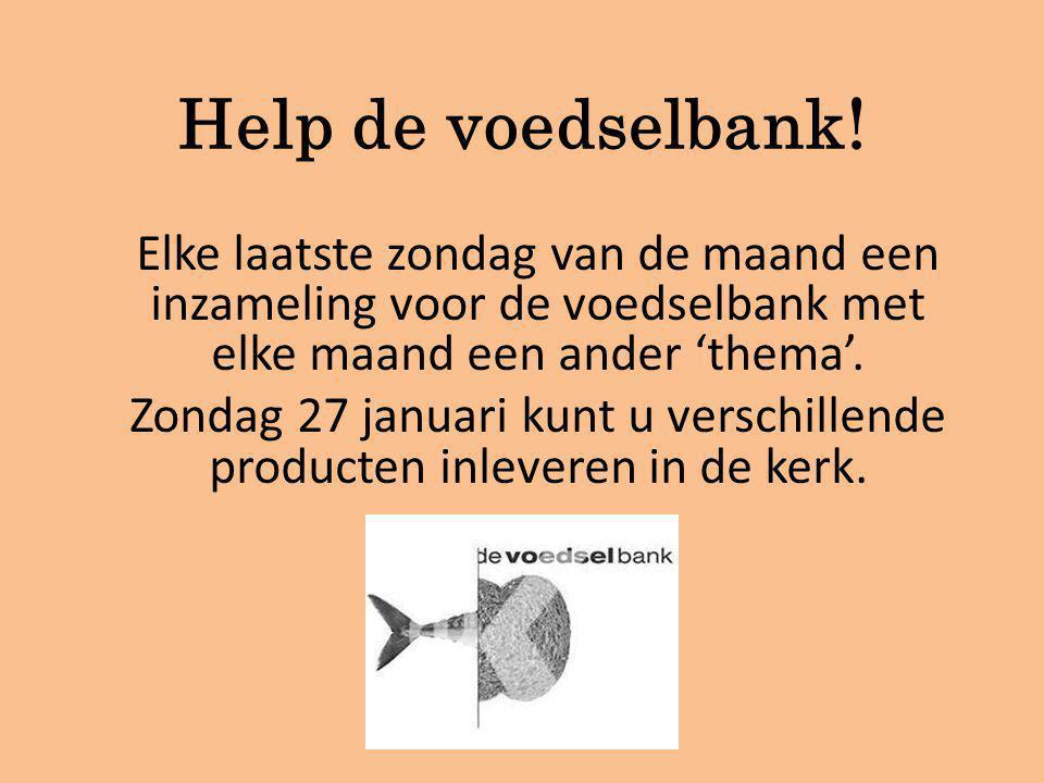 Help de voedselbank.