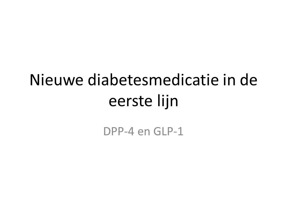 Nieuwe diabetesmedicatie in de eerste lijn DPP-4 en GLP-1