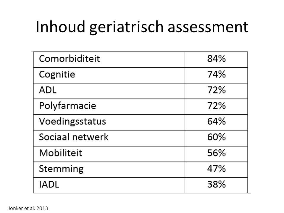 Inhoud geriatrisch assessment Jonker et al. 2013