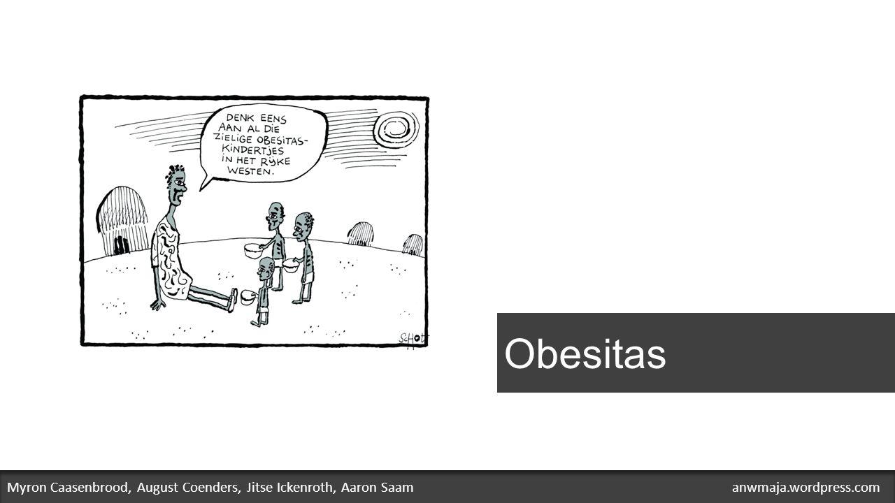 Probleemstelling Veel mensen in de wereld zijn te dik of worden steeds dikker.