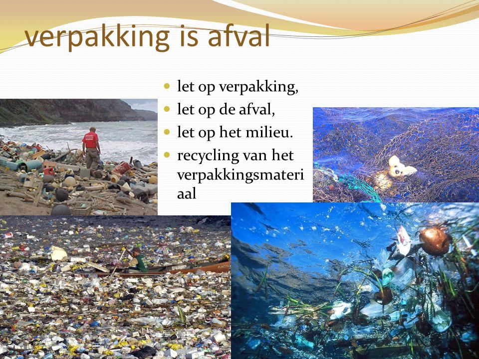verpakking is afval let op verpakking, let op de afval, let op het milieu. recycling van het verpakkingsmateri aal