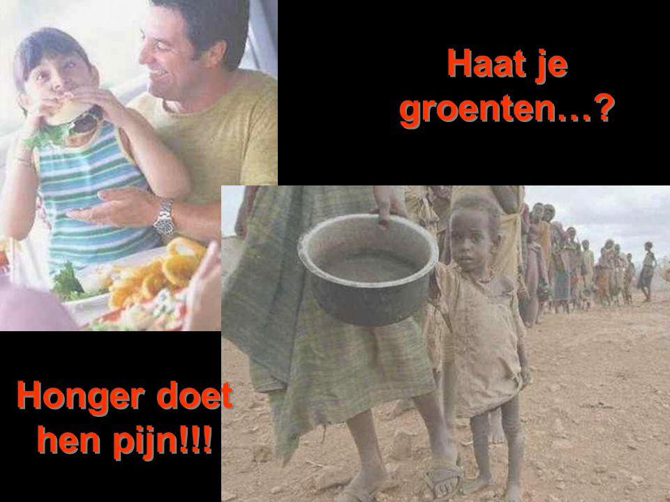 Haat je groenten…? Honger doet hen pijn!!!