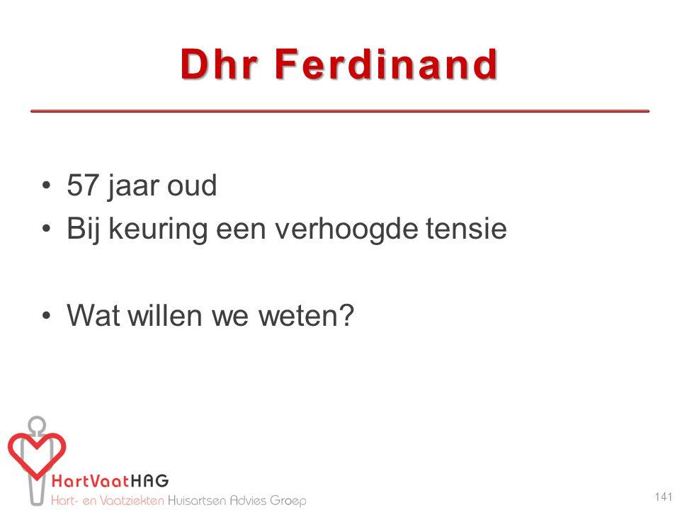 Dhr Ferdinand 57 jaar oud Bij keuring een verhoogde tensie Wat willen we weten? 141
