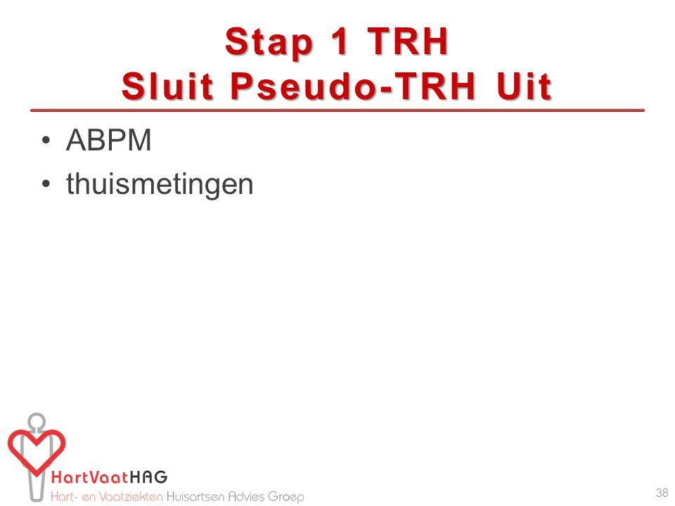 Stap 1 TRH Sluit Pseudo-TRH Uit ABPM thuismetingen 38