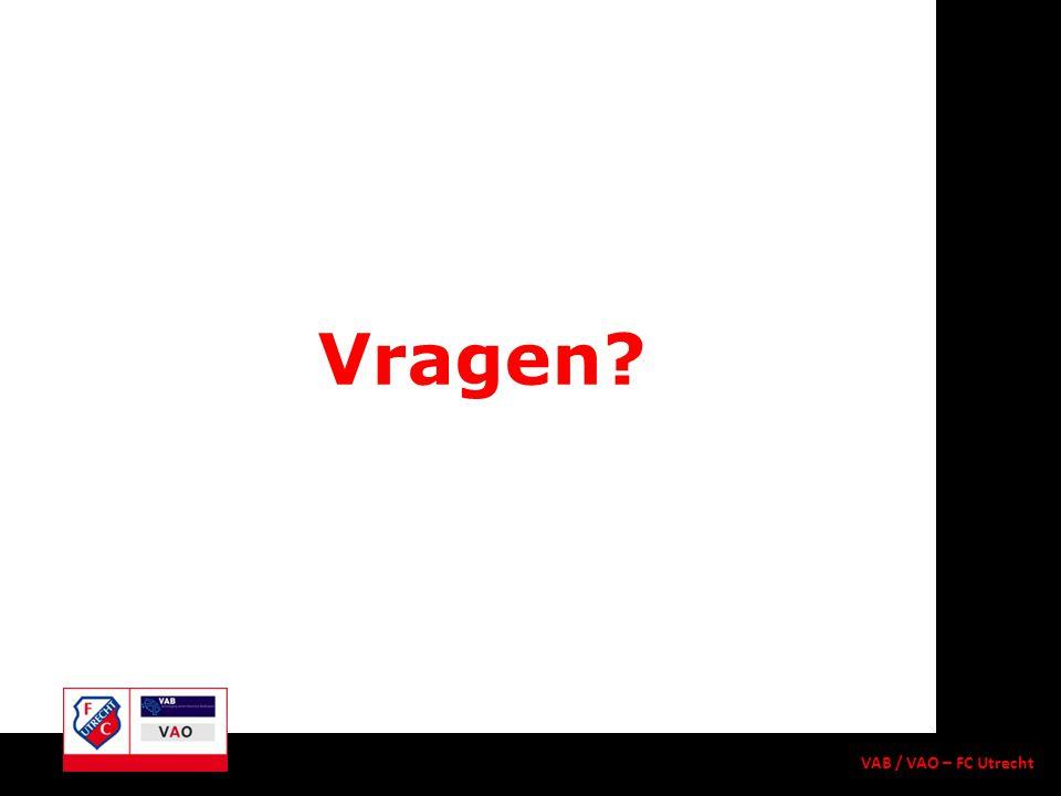 Vragen? VAB / VAO – FC Utrecht