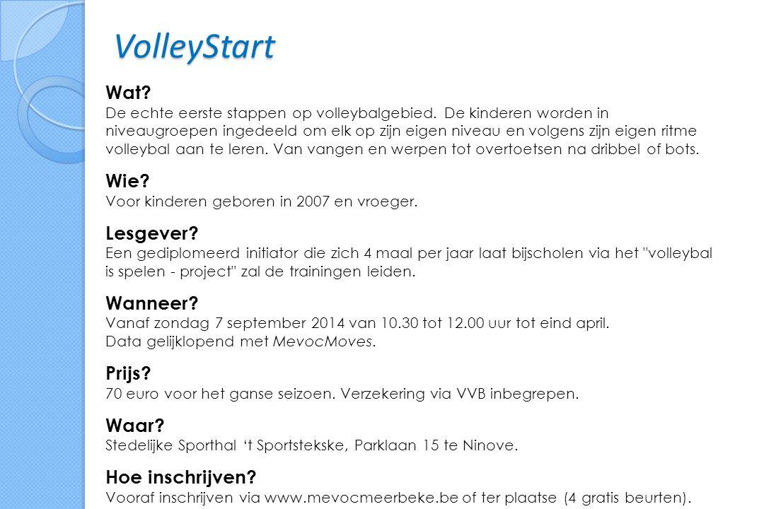 VolleyStart Wat. De echte eerste stappen op volleybalgebied.