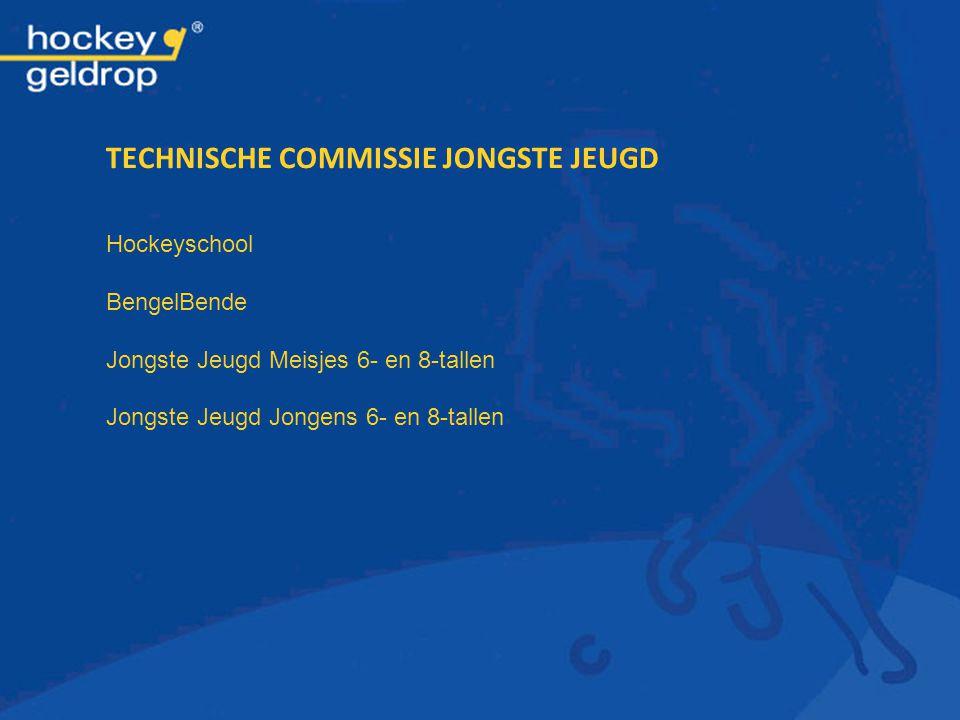 TECHNISCHE COMMISSIE JONGSTE JEUGD Hockeyschool BengelBende Jongste Jeugd Meisjes 6- en 8-tallen Jongste Jeugd Jongens 6- en 8-tallen